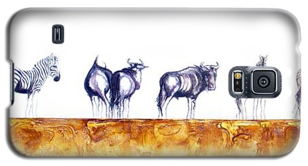 Zebras And Wildebeest 2 Galaxy S5 Case