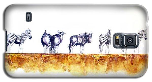 Zebras And Wildebeest 2 Galaxy S5 Case