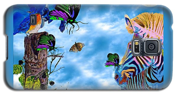 Zebras Birds And Butterflies Good Morning My Friends Galaxy S5 Case