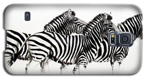 Zebras - Black And White Galaxy S5 Case
