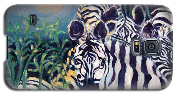 Zebras On The Savanna Galaxy S5 Case by Julie Todd-Cundiff