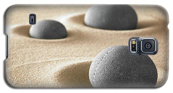 Galaxy S5 Case featuring the photograph Zen Garden Meditation Stones by Dirk Ercken