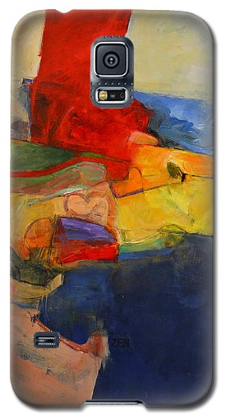 Galaxy S5 Case featuring the painting Zen Harbor by Cliff Spohn