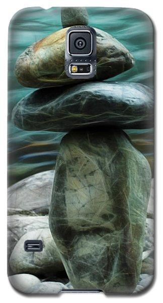 Galaxy S5 Case featuring the photograph Zen Rocks by Yulia Kazansky