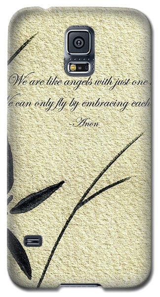 Zen Sumi 4d Antique Motivational Flower Ink On Watercolor Paper By Ricardos Galaxy S5 Case