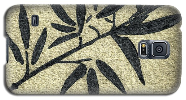 Zen Sumi Antique Botanical 4a Ink On Fine Art Watercolor Paper By Ricardos Galaxy S5 Case