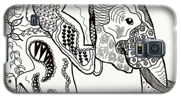 Zentangle Elephant Galaxy S5 Case