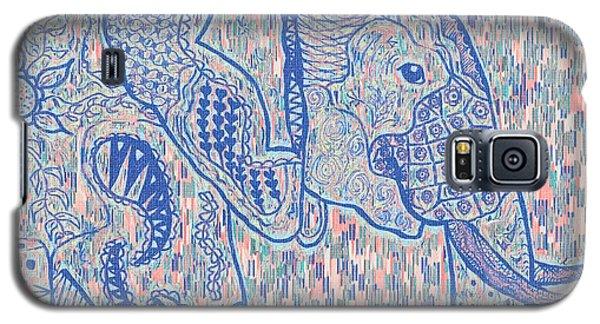 Zentangle Elephant-oil Galaxy S5 Case