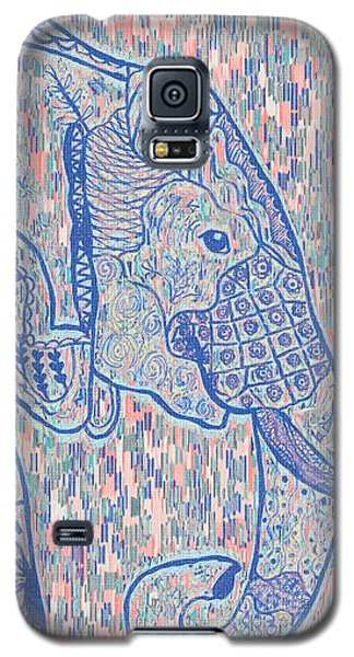 Zentangle Elephant-oil Galaxy S5 Case