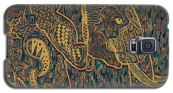 Zentangle Elephant-oil Gold Galaxy S5 Case