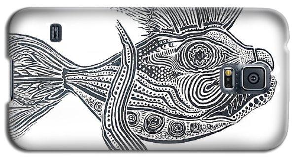 Zentangle Fish Galaxy S5 Case by Steve  Hester