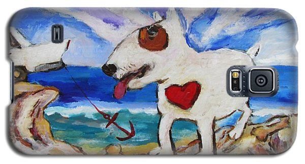 Zephyr Dog Goes To The Beach Galaxy S5 Case by Dianne  Connolly