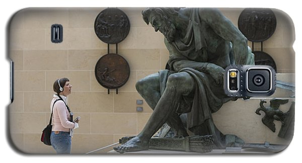 Galaxy S5 Case featuring the photograph Zeus Confronts Woman by Carl Purcell