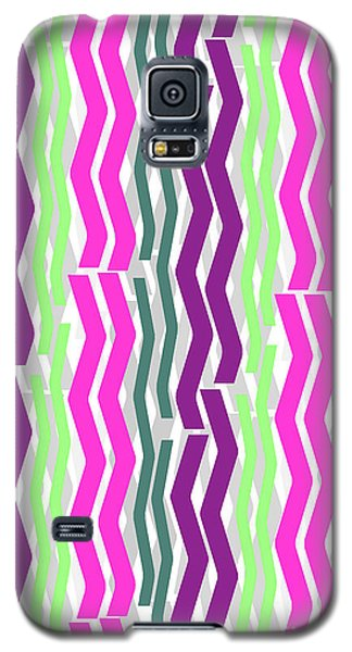 Zig Zig Stripes Galaxy S5 Case by Louisa Knight