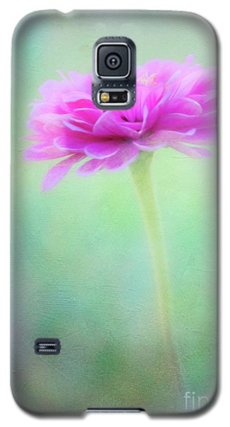 Painted Pink Zinnia Galaxy S5 Case