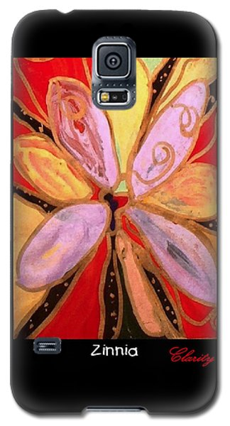 Zinnia Galaxy S5 Case by Clarity Artists