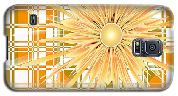 Galaxy S5 Case featuring the digital art Zinnia by Michelle H
