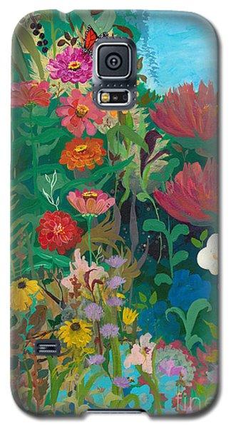 Zinnias Garden Galaxy S5 Case
