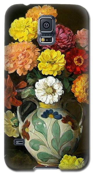 Zinnias In Decorative Italian Vase Galaxy S5 Case