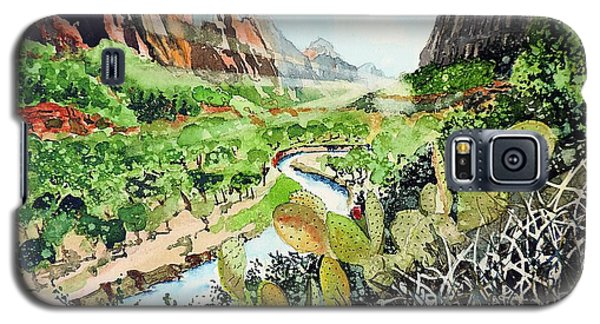 Zion And The Virgin River Galaxy S5 Case by Tom Riggs
