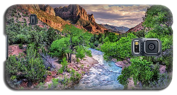 Zion Canyon At Sunset Galaxy S5 Case