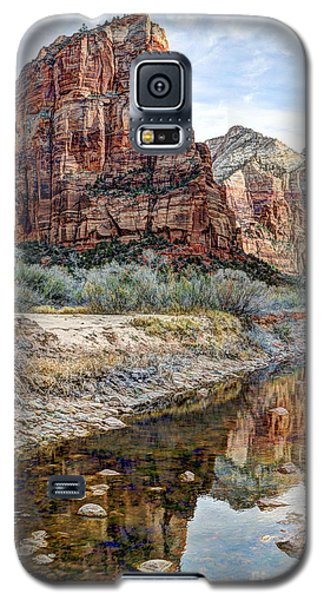 Zions National Park Angels Landing - Digital Painting Galaxy S5 Case