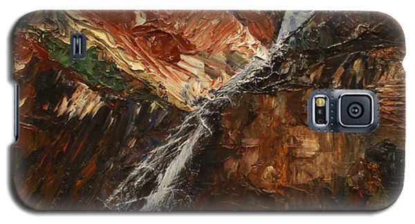 Zions Waterfall Galaxy S5 Case by Jane Autry
