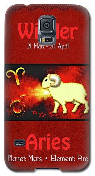 Zodiac Sign Aries - Widder Galaxy S5 Case