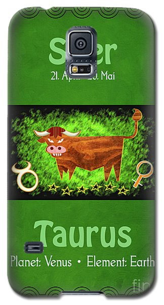 Zodiac Sign Taurus - Stier Galaxy S5 Case