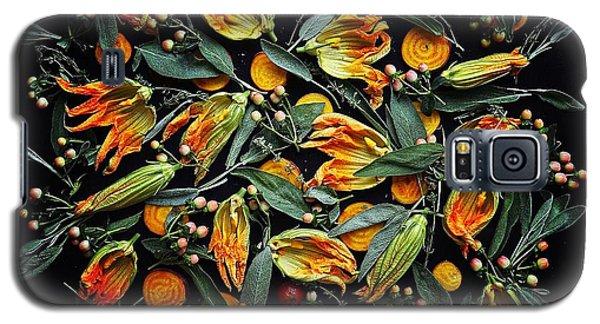 Zucchini Flower Patterns Galaxy S5 Case