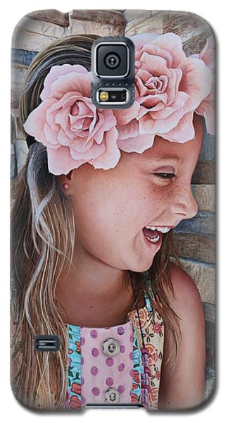 Galaxy S5 Case featuring the painting Zuri Painting by Mike Ivey