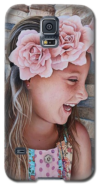 Zuri Painting Galaxy S5 Case by Mike Ivey