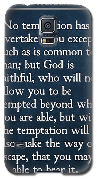 1 Corinthians 10 13- Inspirational Quotes Wall Art Collection Galaxy S5 Case
