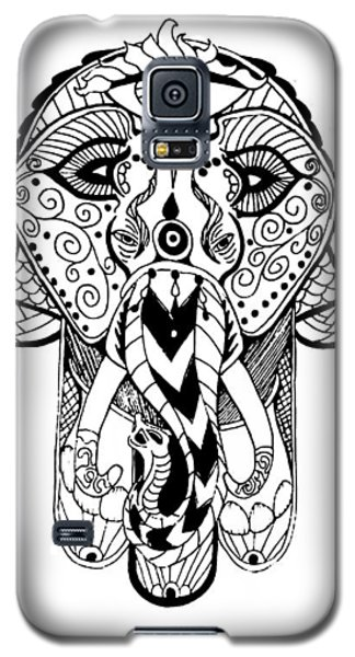 Galaxy S5 Case featuring the mixed media Artist by Nathen Warren