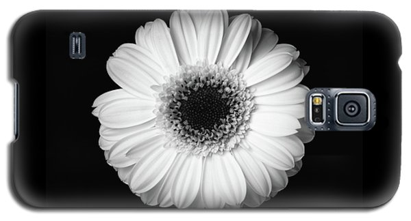 Black And White Flower Galaxy S5 Case