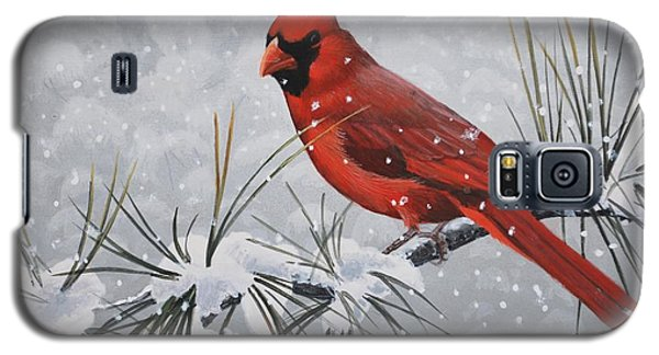 Cardinal In The Snow Galaxy S5 Case