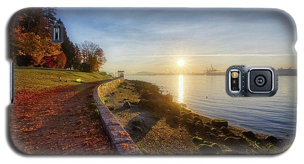Colorful Autumn Sunrise At Stanley Park Galaxy S5 Case