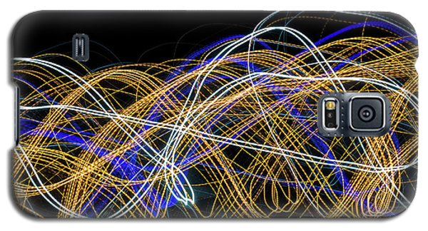 Colorful Light Painting With Circular Shapes And Abstract Black Background. Galaxy S5 Case