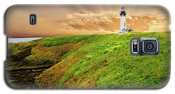 Lighthouse On  Yaquina Head  Galaxy S5 Case
