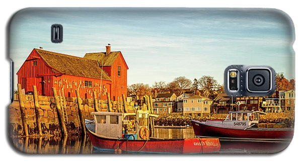 Low Tide And Lobster Boats At Motif #1 Galaxy S5 Case