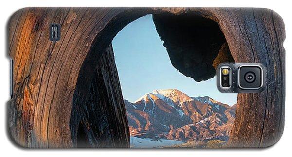 Sangre De Cristo Galaxy S5 Case - Mount Herard Framed, Great Sand Dunes by Tim Fitzharris