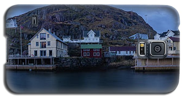 Norwegian Seaside Town Nyksund Galaxy S5 Case