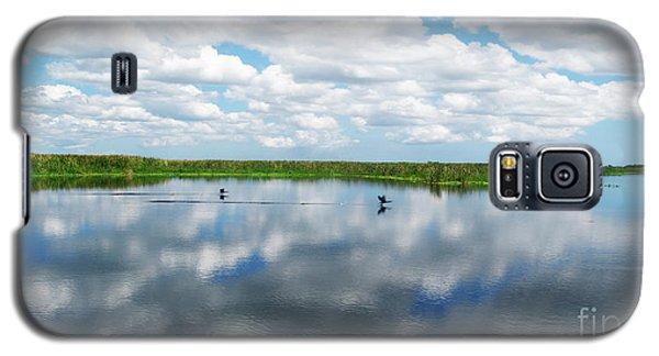 Skyscape Reflections Blue Cypress Marsh Near Vero Beach Florida C6 Galaxy S5 Case