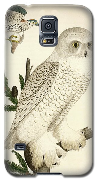 1. Snow Owl. 2. Male Sparrow-hawk. Galaxy S5 Case
