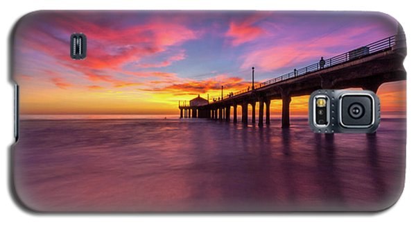Stunning Sunset At Manhattan Beach Pier Galaxy S5 Case