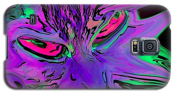 Super Duper Crazy Cat Purple Galaxy S5 Case