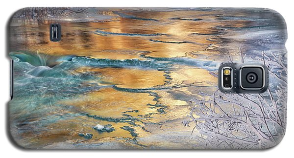 Winter Azure And Gold Galaxy S5 Case