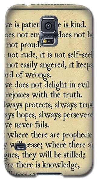 1 Corinthians 13 4-8- Inspirational Quotes Wall Art Collection Galaxy S5 Case
