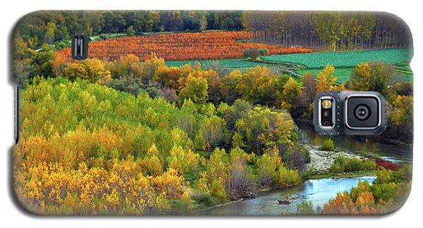 Autumn Colors On The Ebro River Galaxy S5 Case