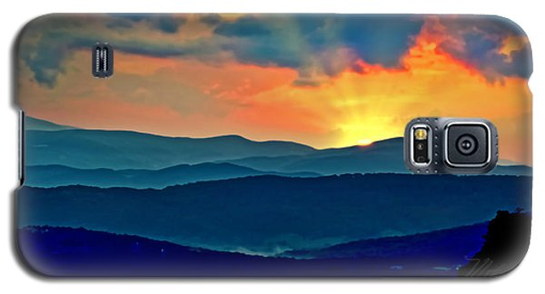 Blue Ridge Mountains Sunset Galaxy S5 Case